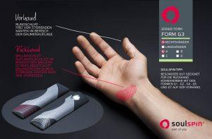 Gerade Griff-Form G3 für angepasste Schlägergriffe beim Tischtennisholz