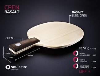 Penholder Basalt Table Tennis blade by SOULSPIN