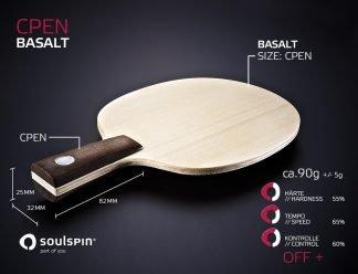 Penholder Basalt Tischtennisholz von SOULSPIN