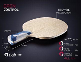 Chinesischer Penholder für Allroundspieler handgemachtes Tischtennisholz von SOULSPIN