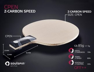 Extremely fast and hard Chinese Penholder CPEN with Carbon-Mix Table Tennis blade by SOULSPIN