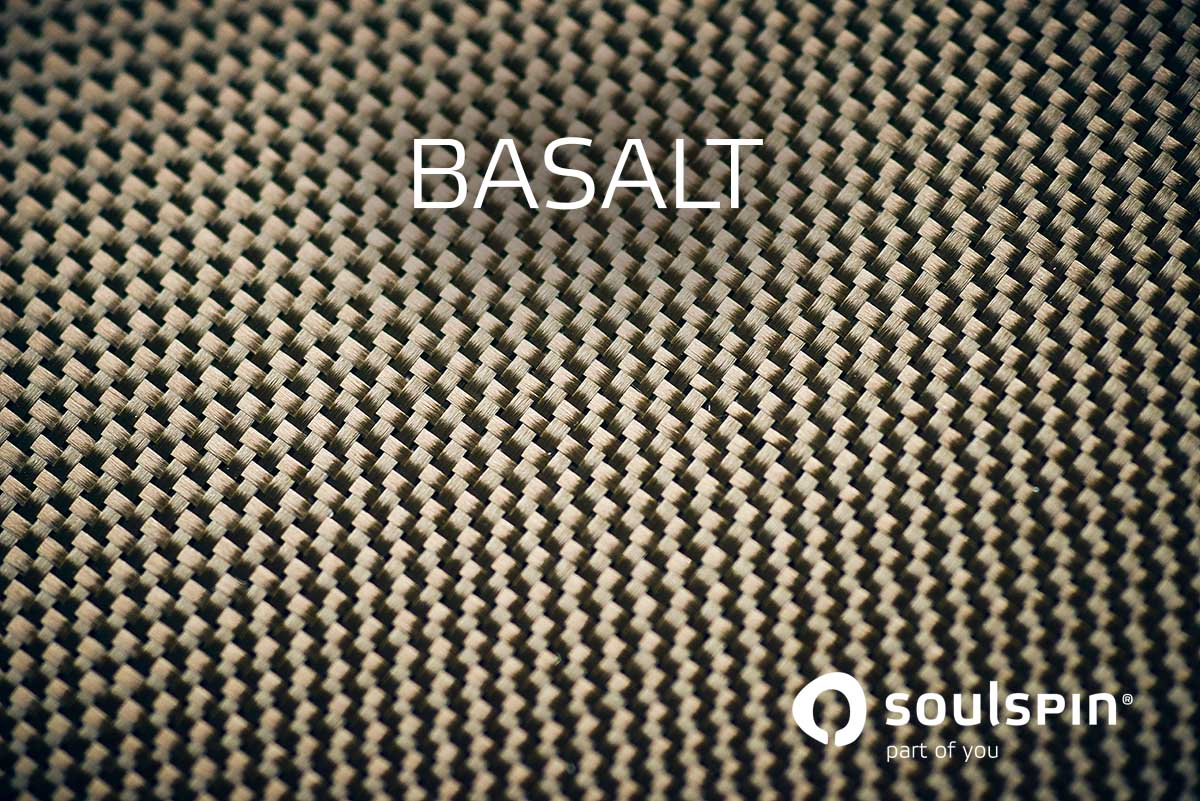 Tischtennishölzer mit Basalt Nahaufnahme der Kunstfaser