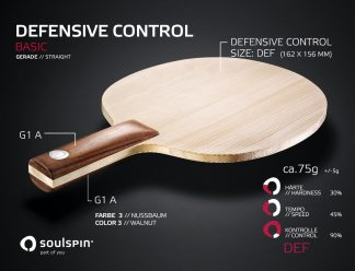 Abwehrholz für Defensiv-Spieler mit geradem Griff