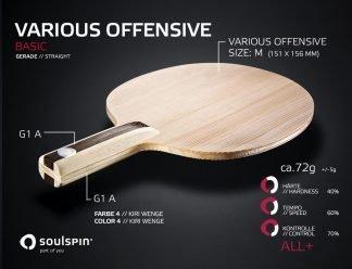 Holz für Allroundspieler mit geradem Griff von SOULSPIN