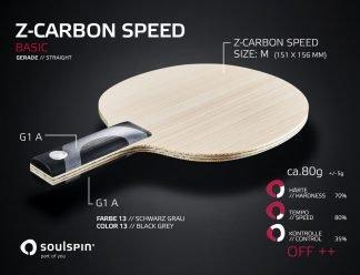Offensivholz Z-Carbon Speed Basic Tischtennisschläger mit geradem Griff